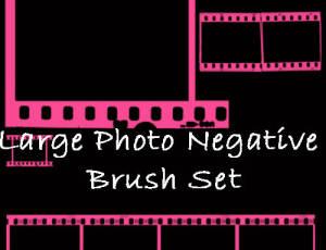 老旧电影胶片背景图案PS笔刷素材