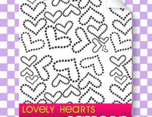 点状式爱心、心形图案符号Photoshop填充图案文件底纹素材 .pat 下载