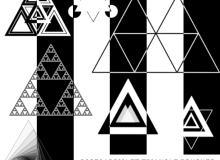 神秘三角形、几何组合三角PS图形笔刷