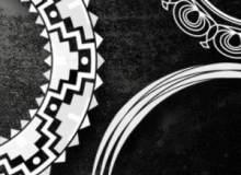 51种圈形花纹图案装饰PS笔刷素材