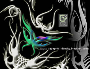 炫酷神秘纹身、刺青花纹图案PS笔刷素材下载
