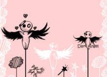 残酷黑暗天使、堕落小天使PS卡通造型笔刷素材
