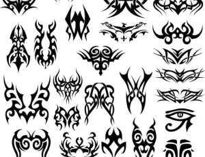 漂亮的花式纹身、纹饰、刺青图案PS图腾印记笔刷