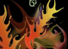 漂亮的火焰纹饰、火焰花纹图案PS笔刷素材下载