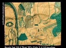 女孩的生活手绘涂鸦Photoshop笔刷素材下载