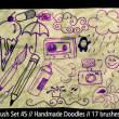 可爱童年元素白云、磁带、喷漆罐、照相机、太阳、铅笔、冰淇淋、雨伞、药丸、眼睛等PS童趣笔刷