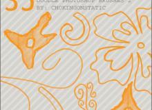 手绘涂鸦花朵图案Photoshop画笔花纹笔刷