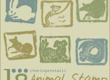 动物印章、手工徽章图案PS笔刷素材下载