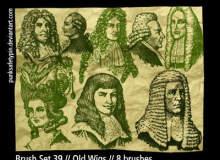 古欧洲贵族头像、肖像图案PS笔刷素材下载
