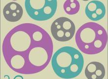 随机变化圆图形、同心圆装饰PS笔刷素材