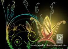 漂亮精美的艺术植物花纹图案PS印花笔刷