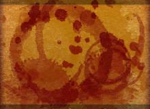 水彩、油漆污渍痕迹、圆圈杯垫污迹PS笔刷素材下载