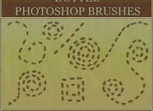 手绘涂鸦点划状线条Photoshop笔刷素材下载