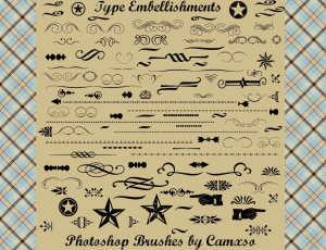 花纹、边框装饰类图案Photoshop笔刷素材下载