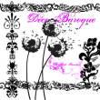 漂亮的艺术植物印花图案、蒲公英花纹PS笔刷素材下载