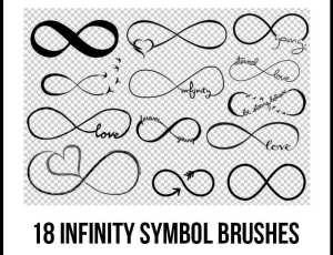 18种有趣的无穷符号涂鸦PS笔刷下载