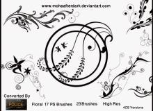 优美的贵族花纹艺术图案PS笔刷下载素材