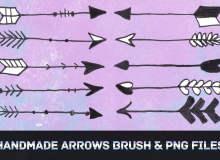 可爱手绘箭头标记图案PS笔刷素材下载