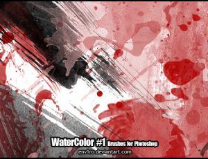 油漆、水墨、水彩喷溅效果、挥洒图案PS笔刷素材下载