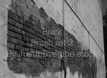 一面水泥墙面效果PS笔刷素材下载