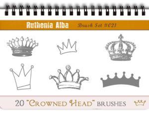 20种可爱的皇冠、王冠图形PS笔刷素材下载