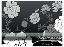 漂亮的鲜花、花朵图案、印花花纹PS笔刷素材下载
