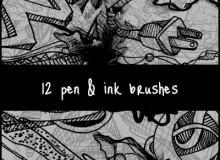 手绘绘画笔记、漫画涂鸦PS笔刷素材