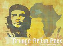 切·格瓦拉肖像、岁月颓废痕迹背景装饰PS笔刷素材下载