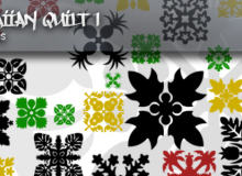 经典中东风格的印花、地毯、墙壁印染图案PS笔刷素材下载