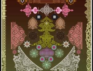 漂亮的穆斯林式古典民族花纹PS笔刷素材