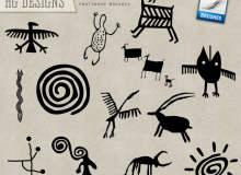 可爱童趣原始部落涂鸦PS笔刷素材下载