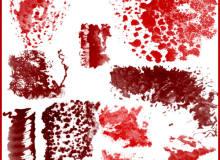 有疾病的皮肤纹理、皮肤创伤、化脓、炎症、擦伤等纹理PS笔刷素材
