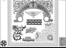 经典穆斯林式花纹图案PS笔刷素材下载