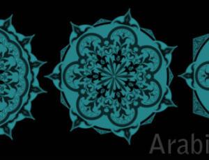 漂亮的穆斯林族裔花纹图案PS中东艺术花纹笔刷