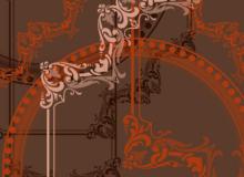 经典漂亮的植物印花式边框、相框、画框图案PS笔刷素材