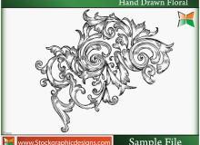 漂亮精美的手绘欧式花纹图案PS笔刷素材下载