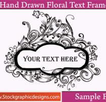 漂亮的复古式手绘植物印花Photoshop笔刷素材下载