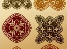 6种穆斯林式古典印花花纹图案PS笔刷素材下载