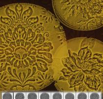 庄严大气的版刻式复古鲜花花纹图案PS笔刷素材下载