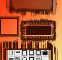 复古式背景边框、相框、装饰框图案PS笔刷素材
