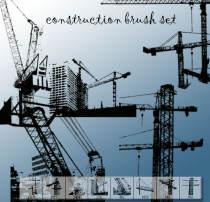 城市建设塔吊PS工程建筑笔刷