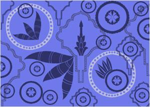 复古式花纹图案PS素材印花笔刷