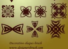 伊斯兰式古典印花图案PS笔刷素材下载