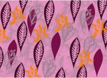 叶子花纹图案PS笔刷素材下载