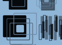 科技感十足的方框造型装饰PS笔刷素材