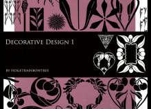 欧式复古花纹图案、植物印花花纹PS笔刷素材下载