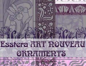 手绘艺术鲜花图案素材PS笔刷下载