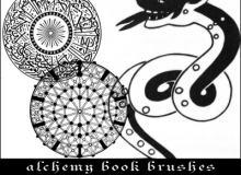 伊斯兰教式民族花纹图案PS印花笔刷素材