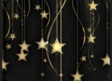 甜美梦幻场景装饰星星挂坠图形PS笔刷素材下载