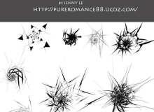 8种超酷爆炸式球形抽象效果PS笔刷素材